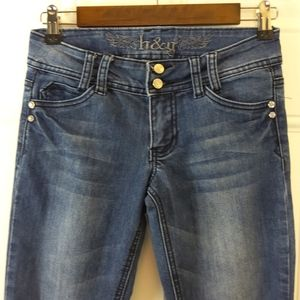 h & g five pocket skinny leg Jeans with bling
